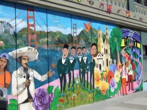 San Francisco muurtekening