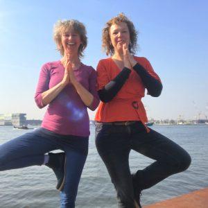 Yoga voor ondernemers workshop Muriel Warners en Jetty Hardorff